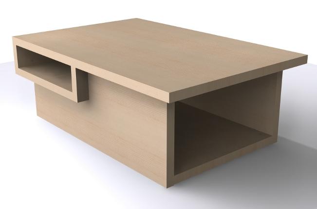 SOSDESIGN, conseils, idées et plans gratuits de meubles et objets design pou -> Plan Table Basse
